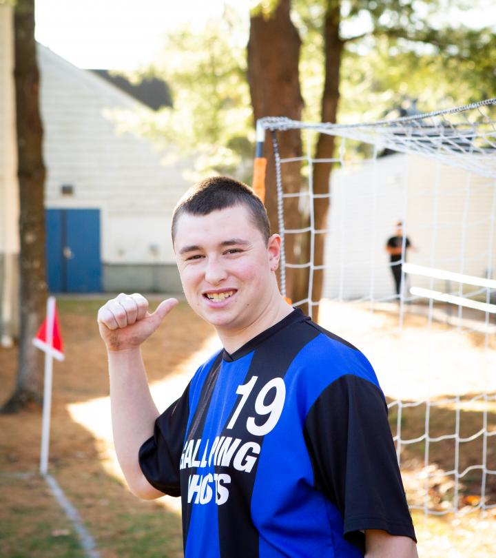 Soccer player giving a thumb up!